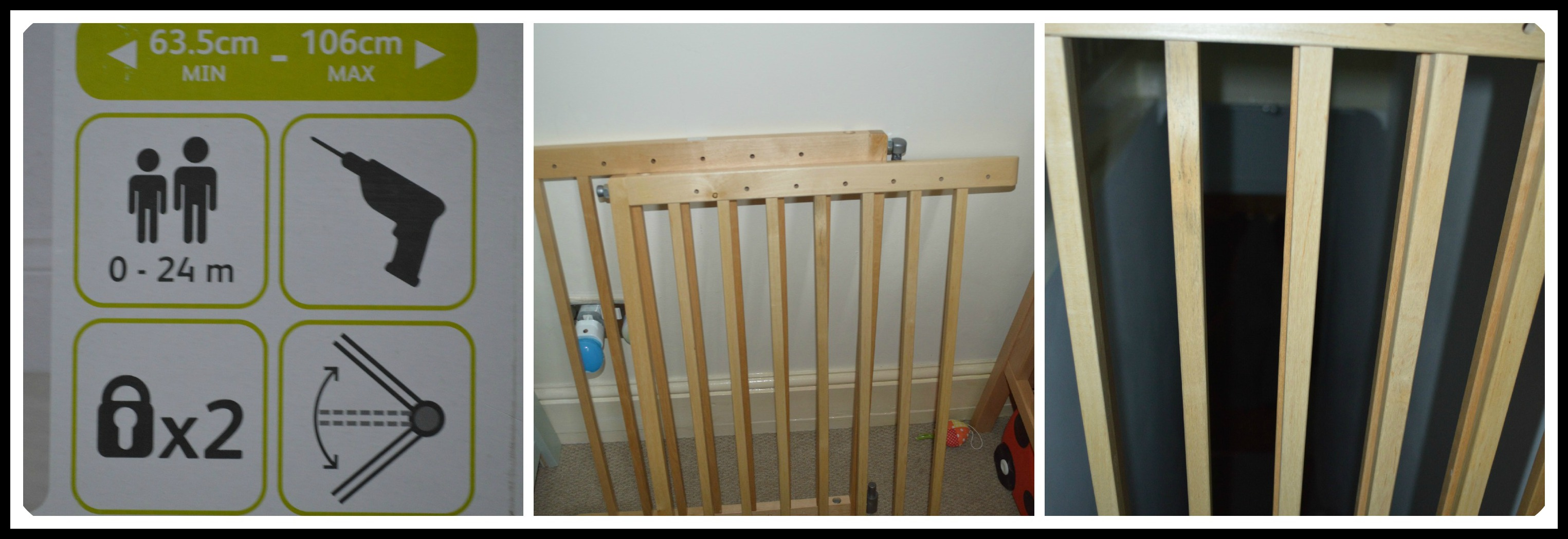 Lindam Extending Wooden Safety Gate A Review Rocknrollerbaby