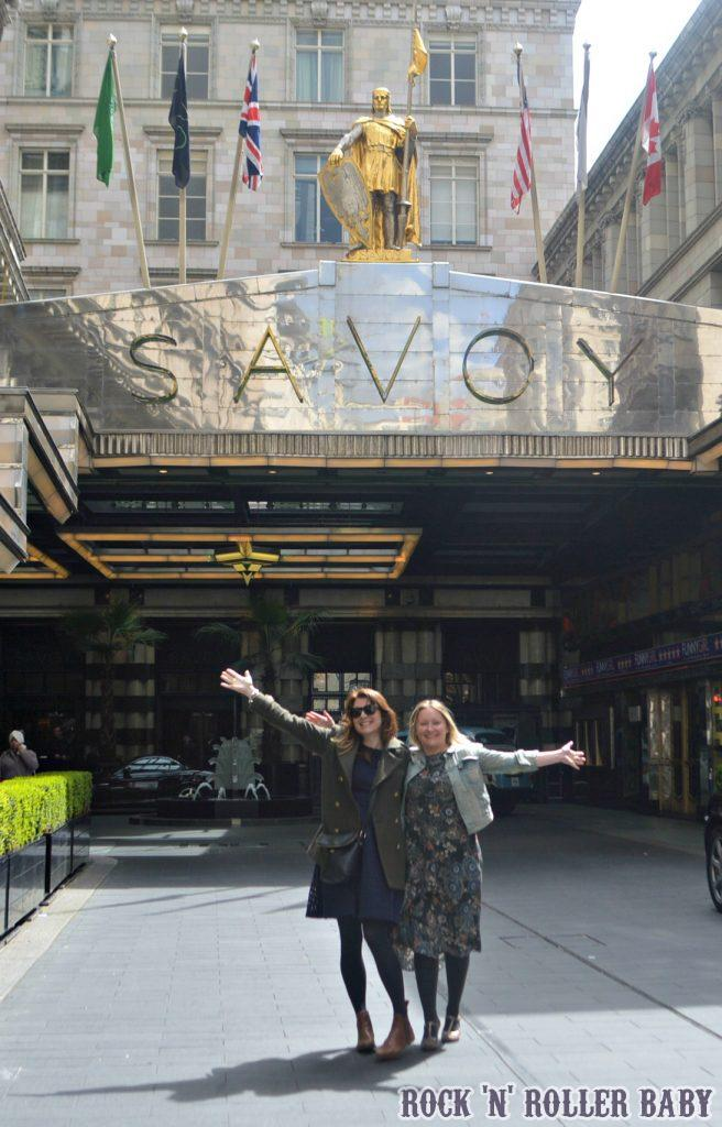 Katy and I outside The Savoy - how lucky are we?!