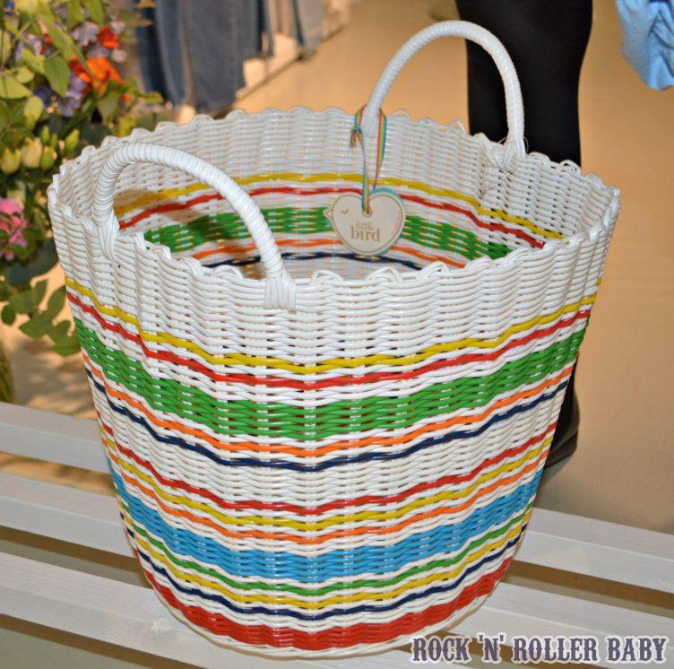 And this divine basket for toys! The Moses basket is just fab with a red wicker base and this stood next to it filled with toys is perfection!